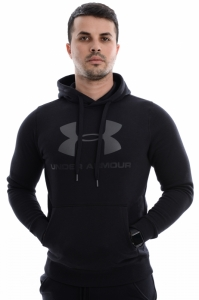 Hanorac  UNDER ARMOUR  pentru barbati RIVAL FITTED GRAPHIC HOODIE 1302294_001