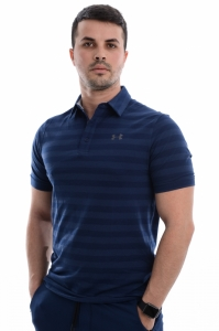 Tricou polo  UNDER ARMOUR  pentru barbati CC SCRAMBLE STRIPE POLO 1306127_408
