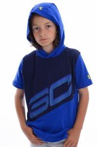 Tricou  UNDER ARMOUR  pentru copii SC30 SS HOOD 1306221_400
