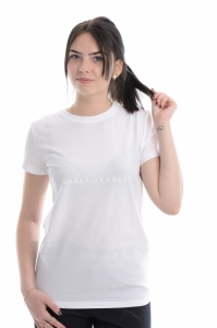 Tricou  UNDER ARMOUR  pentru femei SPORTSTYLE MESH LOGO CREW 1310488_100