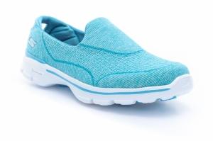 Pantofi fitness  SKECHERS  pentru femei GO WALK 3 NICHE 13988_AQUA