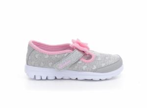 Pantofi sport  SKECHERS  pentru bebelusi GO WALK- BITTY HEART 81162N_GYPK