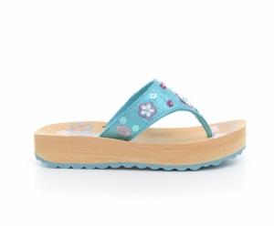 Papuci  SKECHERS  pentru copii SPARKS 86685L_TURQ