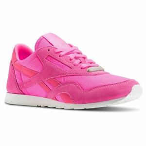 Pantofi sport  REEBOK  pentru femei CL NYLON SLIM METAL AR27_18