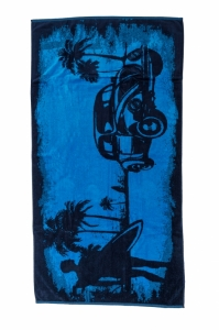 Prosop  PERPETUUM  unisex MAN AND CAR 80*150 BEACH TOWEL PP04_01