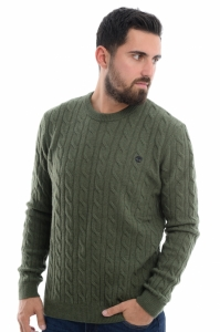 Pulover  TIMBERLAND  pentru barbati PHILLIPS BROOK LAMBSWOOL CABLE CREW A1WE8_V46