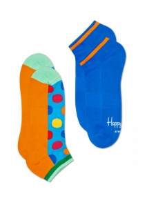 Sosete  HAPPY SOCKS  unisex 2-PACK ATHLETIC BIG DOT LOW SOCK ATBDO02_6700