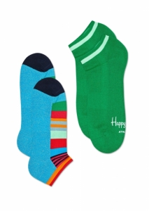 Sosete  HAPPY SOCKS  unisex 2-PACK ATHLETIC LOW STRIPE SOCK ATMST02_6700
