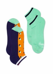Sosete  HAPPY SOCKS  unisex 2-PACK ATHLETIC SHADOW DOT LOW SOCK ATSHA02_2700