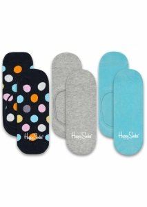 Sosete  HAPPY SOCKS  unisex 3-PACK BIG DOT LINERS BDO18_9001