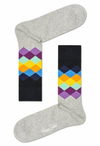 Sosete  HAPPY SOCKS  unisex FADED DIAMOND SOCK FAD01_9500
