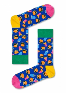 Sosete  HAPPY SOCKS  unisex HAMBURGER SOCK HAM01_6000
