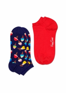Sosete  HAPPY SOCKS  unisex 2-PACK ICE CREAM LOW SOCK ICC02_6300