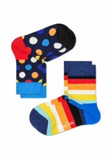 Sosete  HAPPY SOCKS  unisex 2-PACK BIG DOT SOCKS KBDO02_6500