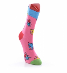 Sosete  HAPPY SOCKS  unisex KEITH HARING DANCING SOCK KEH01_3000