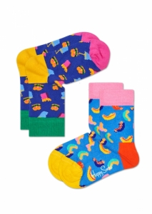 Sosete  HAPPY SOCKS  unisex 2-PACK HAMBURGER SOCKS KHAM02_6001