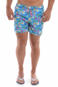Pantalon scurt  HAPPY SOCKS  pentru barbati POOL PARTY SWIM SHORTS PPA116_6000