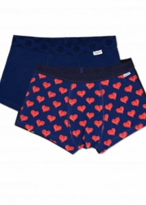 Lenjerie intima  HAPPY SOCKS  pentru barbati 2-PACK SMILEY HEART TRUNKS SMH96_6500