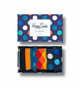 Sosete  HAPPY SOCKS  unisex CLASSIC MIX 3 PACK GIFT BOX XMIX08_6000