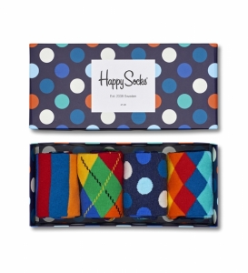 Sosete  HAPPY SOCKS  unisex MIX 4 PACK GIFT BOX XMIX09_6000