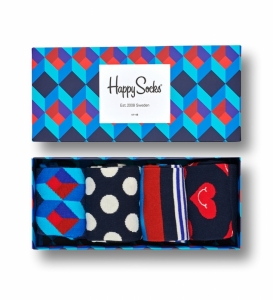 Sosete  HAPPY SOCKS  unisex NAUTICAL 4 PACK GIFT BOX XNAV09_6300