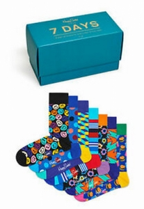 Sosete  HAPPY SOCKS  unisex 7-DAY 7 PACK GIFT BOX XSNI08_0100
